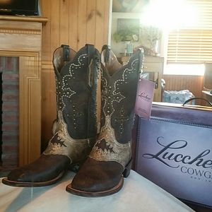 LUCCHESE WOMENS EXCLUSIVE GOAT 10 B MADE USA